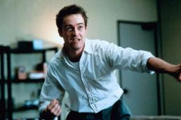 "Edward Norton as The Narrator in ""Fight Club"""