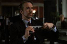 "Alan Rickman as Hans Gruber in ""Die Hard"""