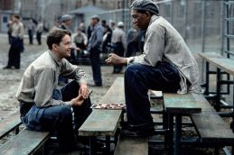 "Tim Robbins as Andy Dufresne in ""The Shawshank Redemption"""