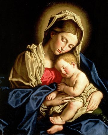 Image: Madonna and Child by Il Sassoferrato